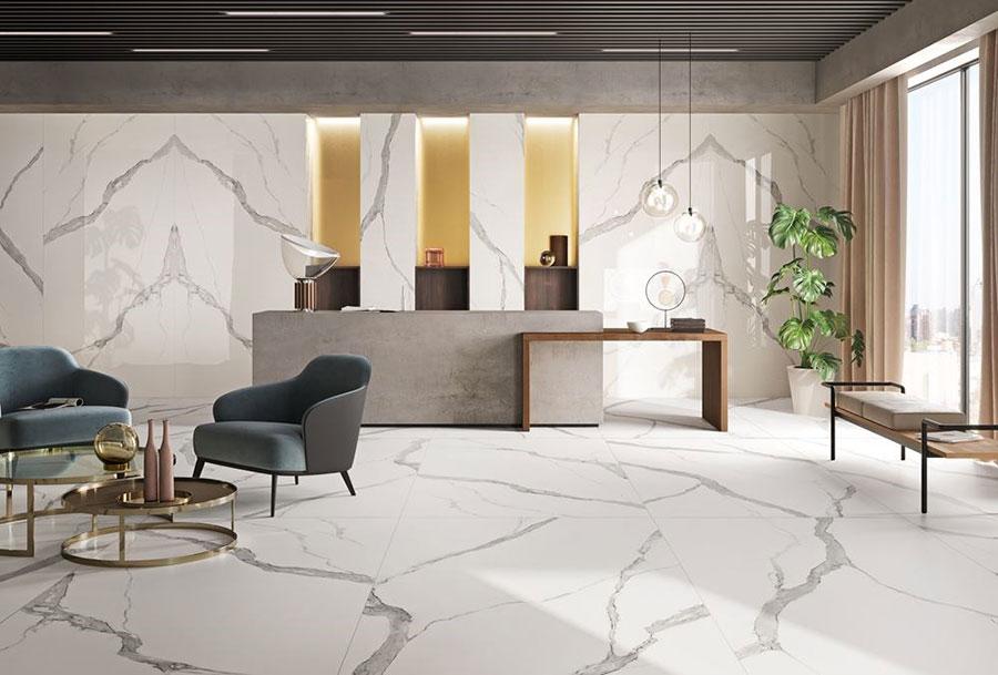 Pavimenti in marmo 50 variet per interni di lusso for Riproduzioni design