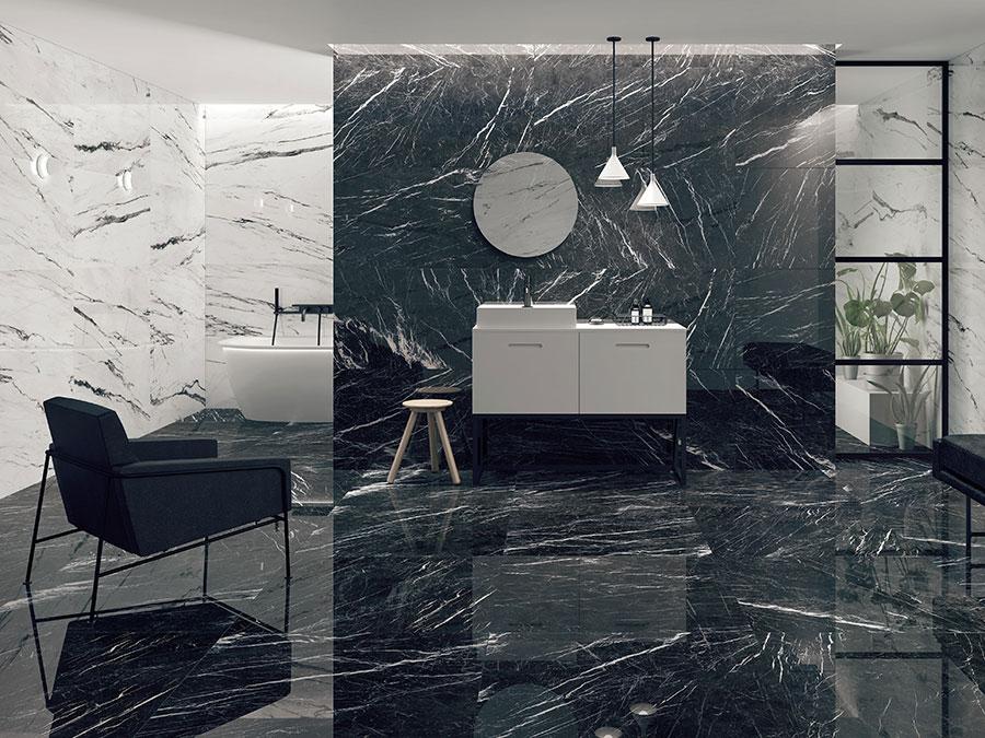 Modello di pavimento in gres effetto marmo n.04