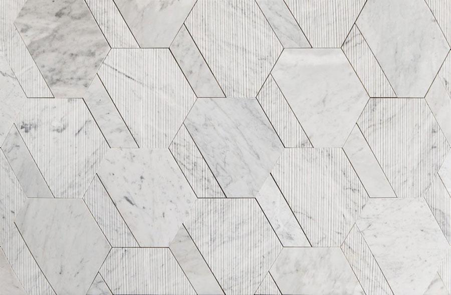 Modello di pavimento in marmo bianco n.01