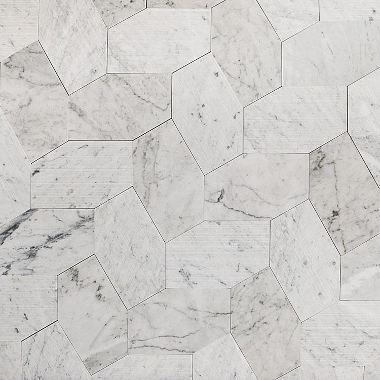 Modello di pavimento in marmo bianco n.02