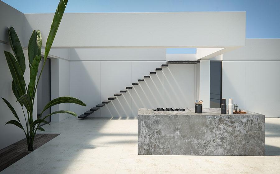 Modello di pavimento in marmo bianco n.05