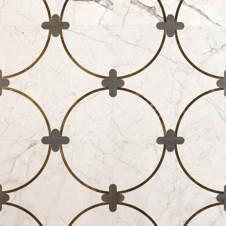 Modello di pavimento in marmo decorato n.01