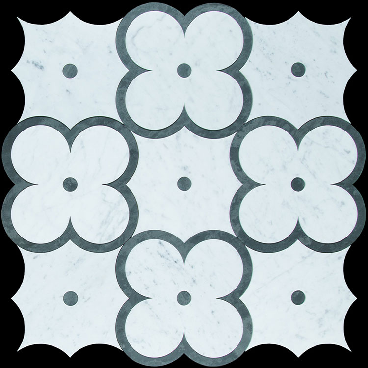 Modello di pavimento in marmo decorato n.04