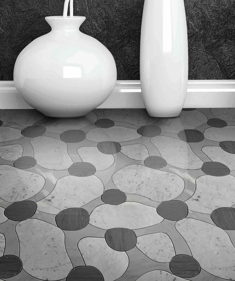 Modello di pavimento in marmo decorato n.05