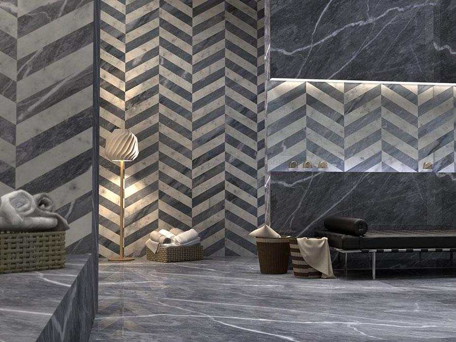 Modello di pavimento in marmo grigio n.03