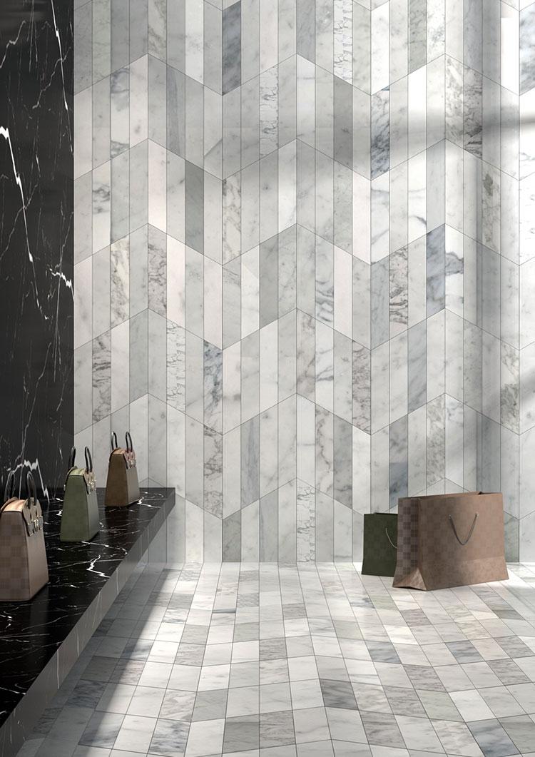 Modello di pavimento in marmo grigio n.04