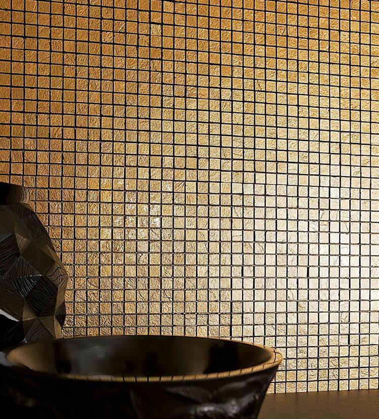 Modello di pavimento in marmo a mosaico n.01