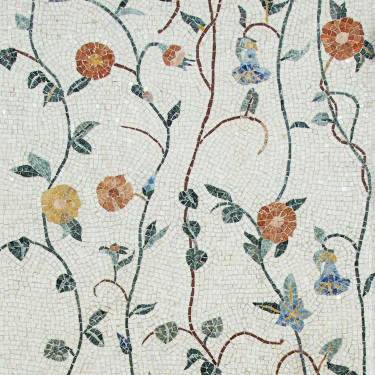 Modello di pavimento in marmo a mosaico n.03