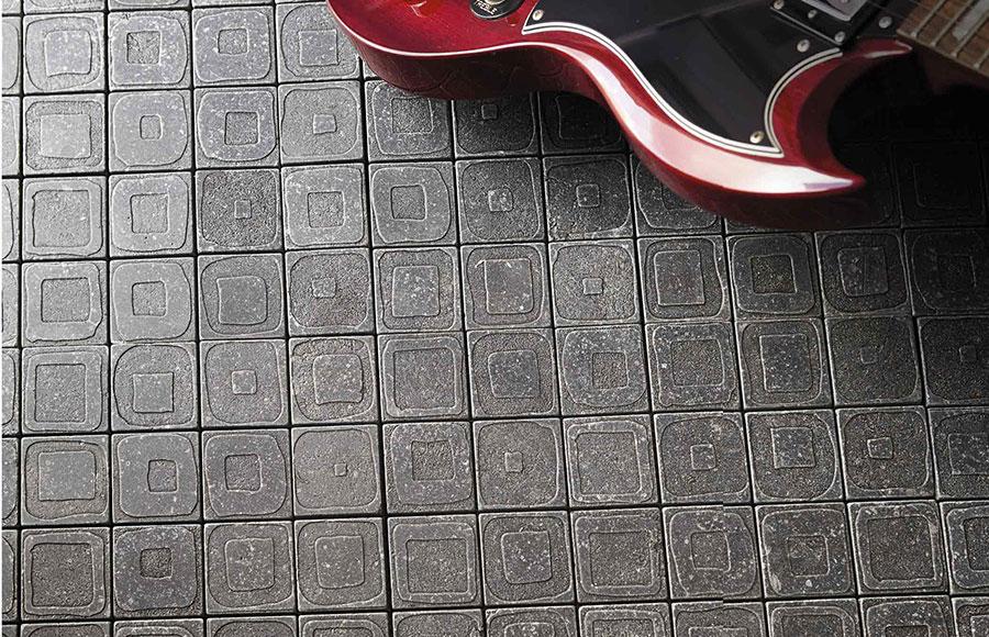Modello di pavimento in marmo a mosaico n.05