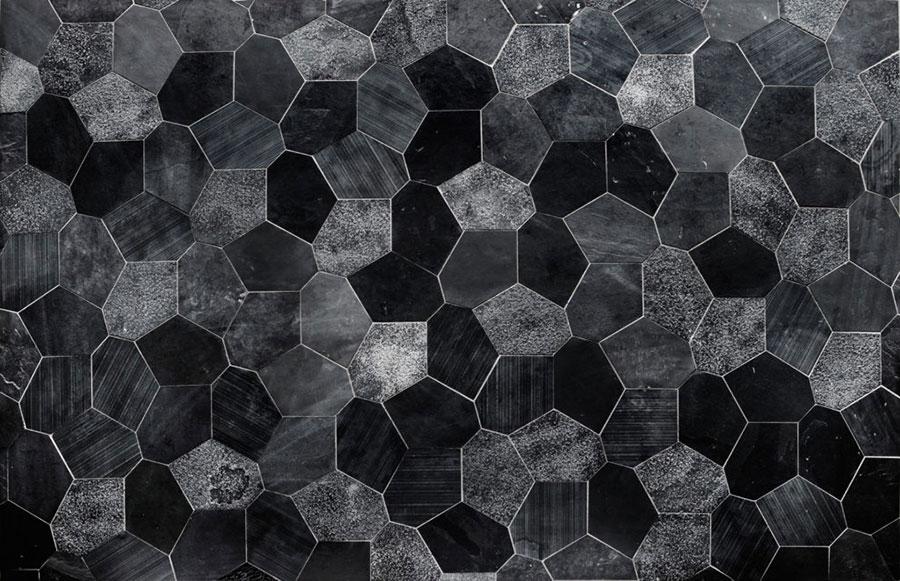 Modello di pavimento in marmo nero n.03