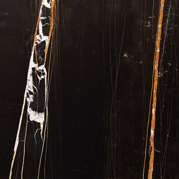 Modello di pavimento in marmo nero n.06