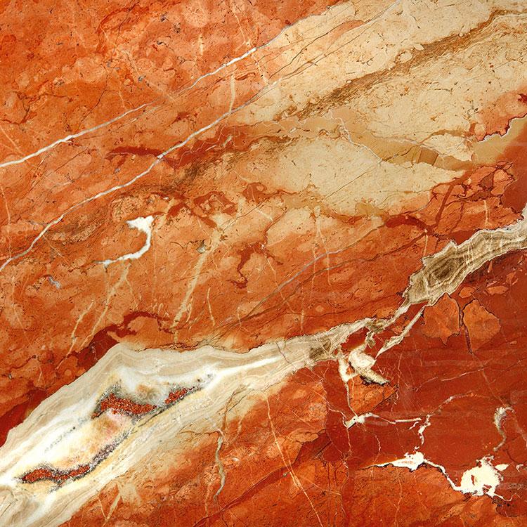 Modello di pavimento in marmo rosso n.01