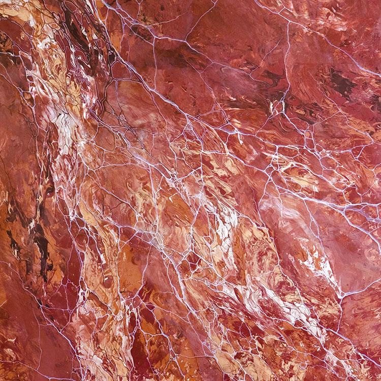 Modello di pavimento in marmo rosso n.02