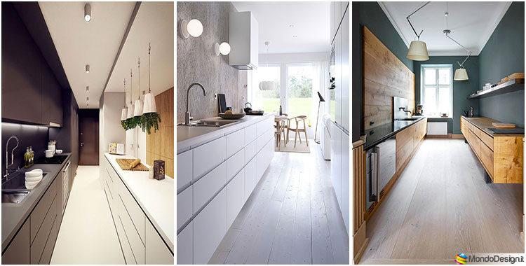 Cucina Stretta e Lunga: 20 Pratiche Idee di Arredamento ...