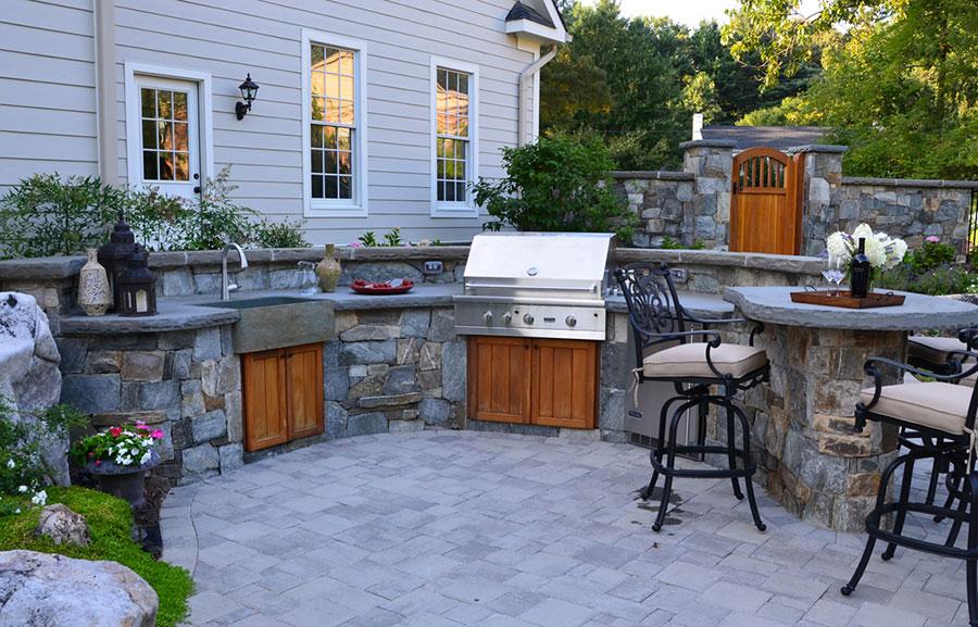 Foto di cucina in muratura da esterno n.01