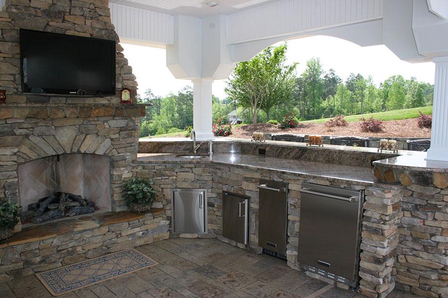 Foto di cucina in muratura da esterno n.03