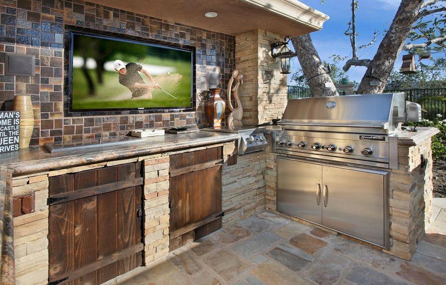 Foto di cucina in muratura da esterno n.04