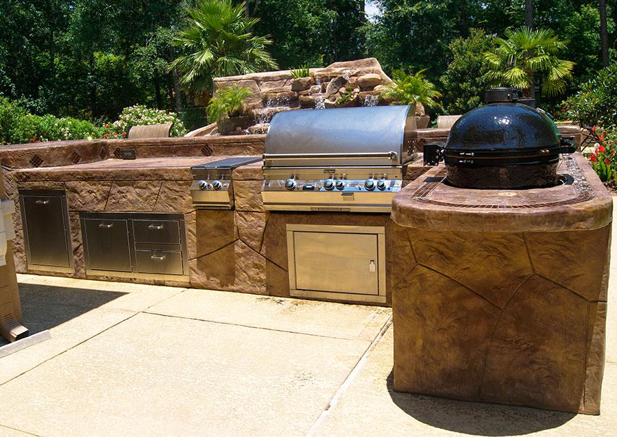 Foto di cucina in muratura da esterno n.08