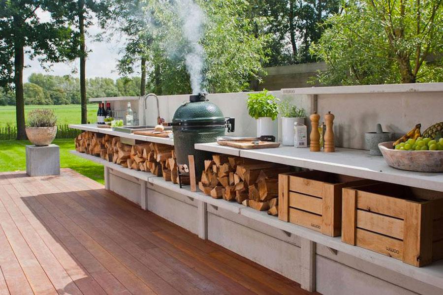 Foto di cucina in muratura da esterno n.12