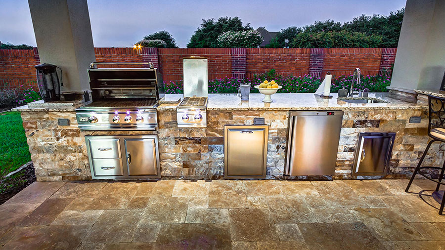 Foto di cucina in muratura da esterno n.13