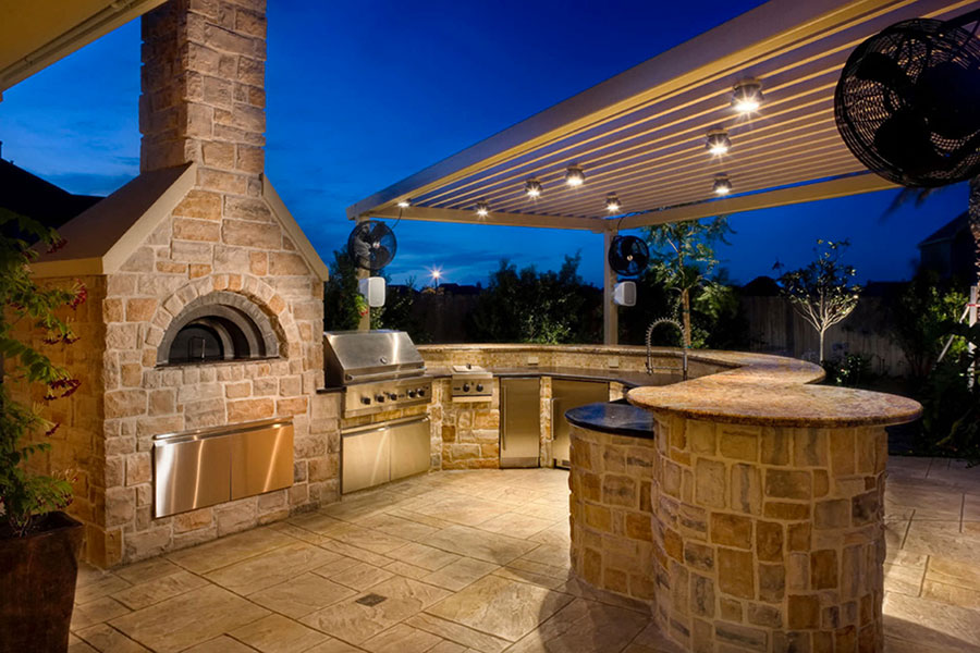 Foto di cucina in muratura da esterno n.15