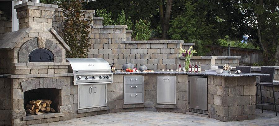 Foto di cucina in muratura da esterno n.17