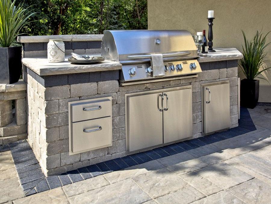 Foto di cucina in muratura da esterno n.22