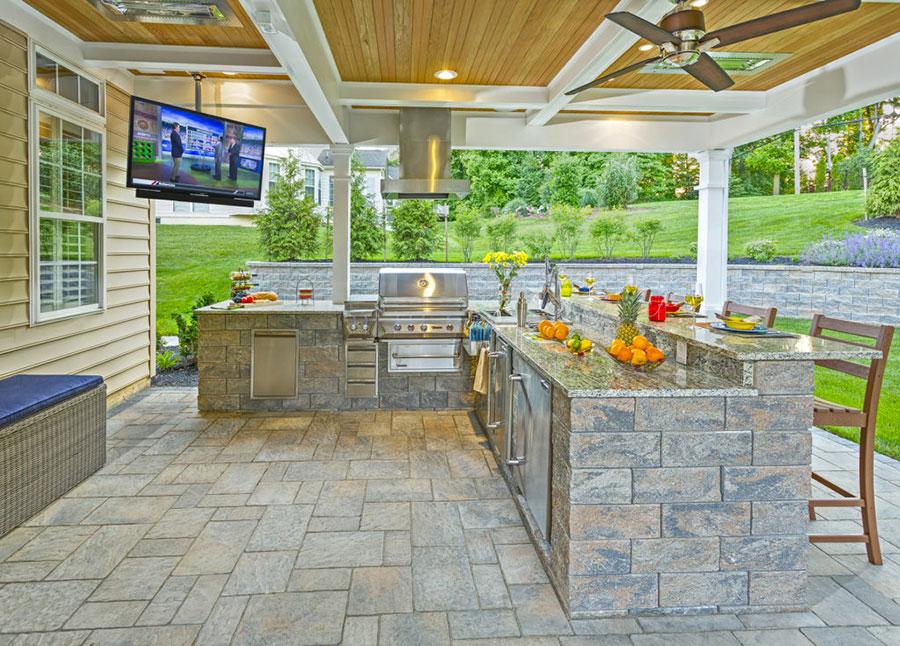 Foto di cucina in muratura da esterno n.23