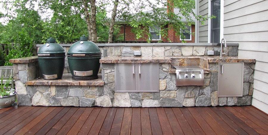 Foto di cucina in muratura da esterno n.26
