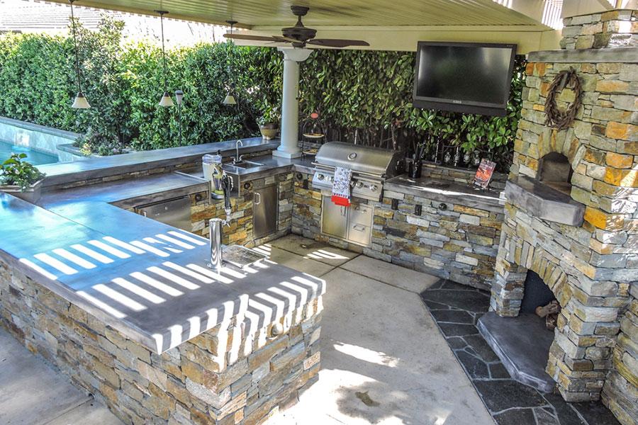 Foto di cucina in muratura da esterno n.27