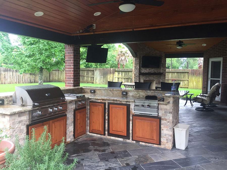 Foto di cucina in muratura da esterno n.28