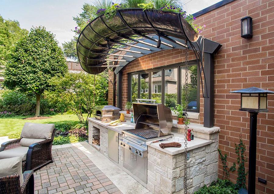 Foto di cucina in muratura da esterno n.29