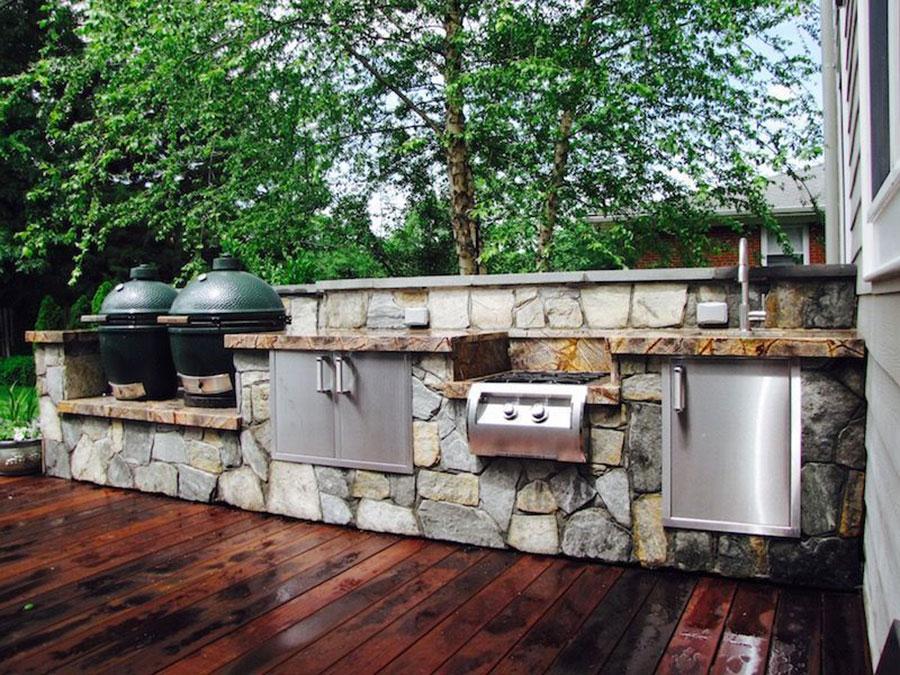 Cucine in muratura da esterno 35 idee a cui ispirarsi - Cucine da esterno in muratura ...