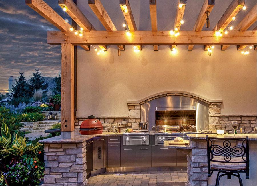 Foto di cucina in muratura da esterno n.31