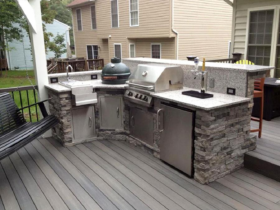 Foto di cucina in muratura da esterno n.34