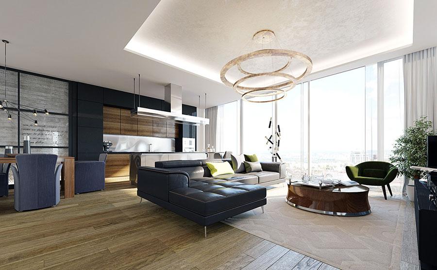 Modello di cucina open space stile classico n.05