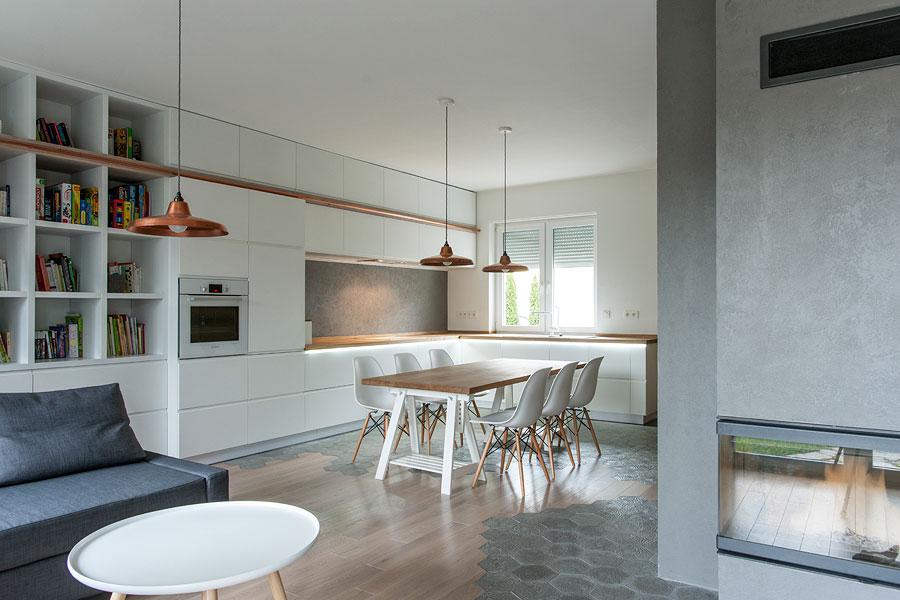 Modello di cucina open space moderna n.07