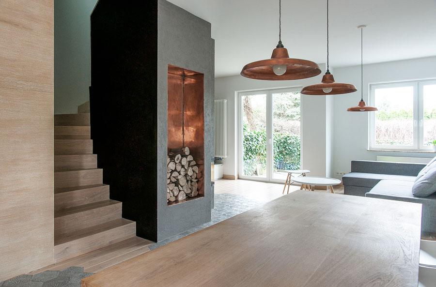 Modello di cucina open space moderna n.08