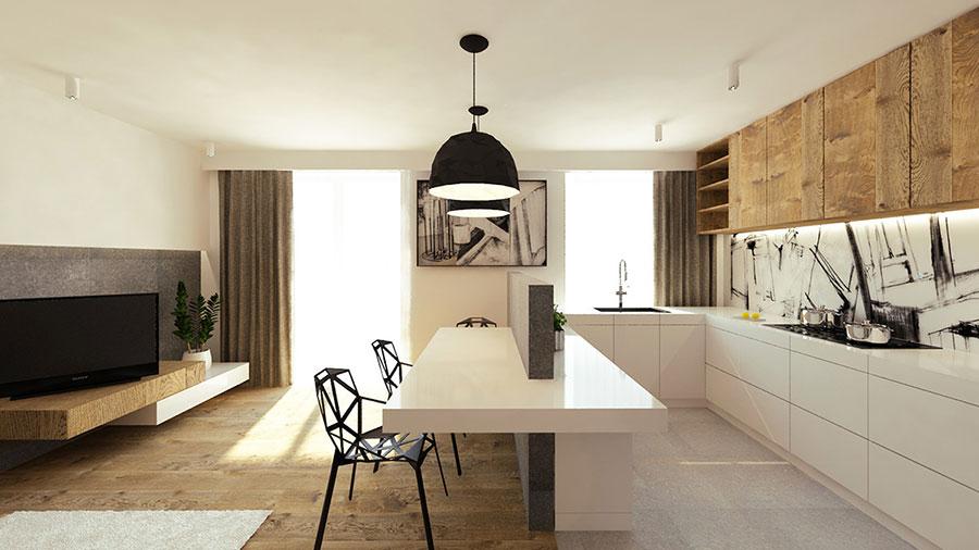 Modello di cucina open space moderna n.09