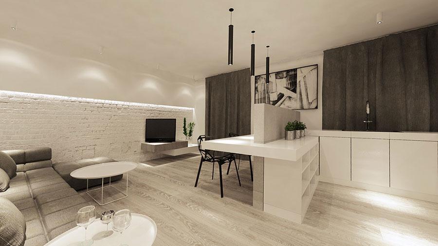 Modello di cucina open space moderna n.10