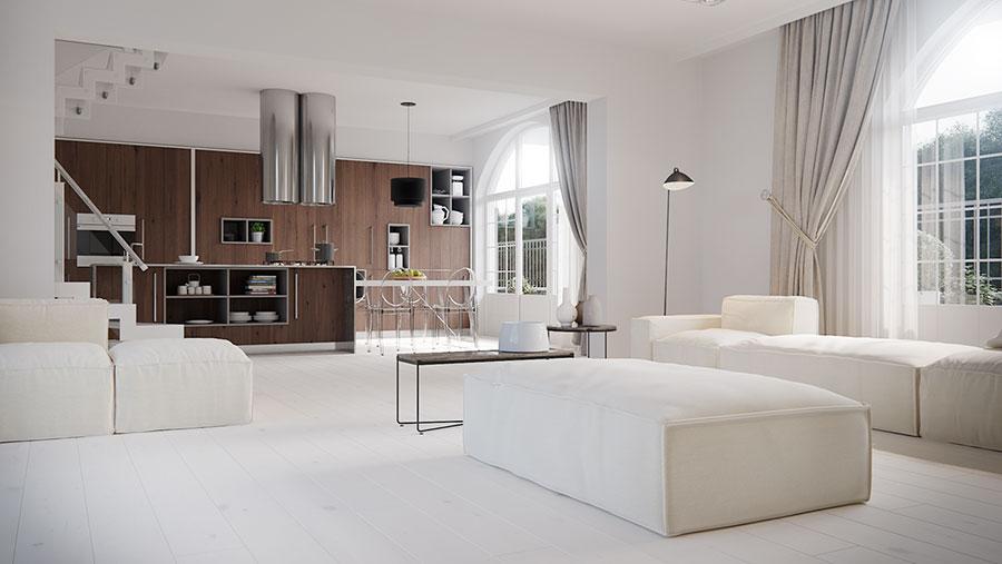 Modello di cucina open space moderna n.13