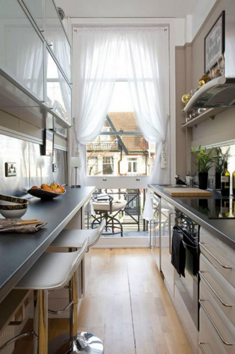 Cucina Soggiorno Stretta E Lunga cucina stretta e lunga: 20 pratiche idee di arredamento