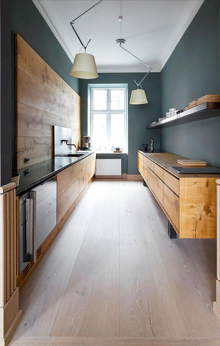 Quale stile scegliere per una cucina stretta e lunga