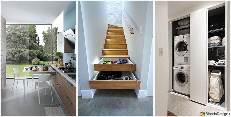 Oltre 50 idee salvaspazio per una casa piccola for Idee per restaurare casa