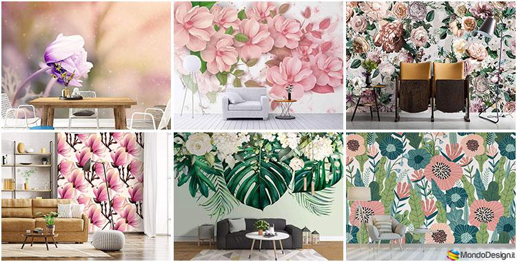 Carta da parati floreale 30 meravigliosi modelli in for Carta da parati inglese vendita on line