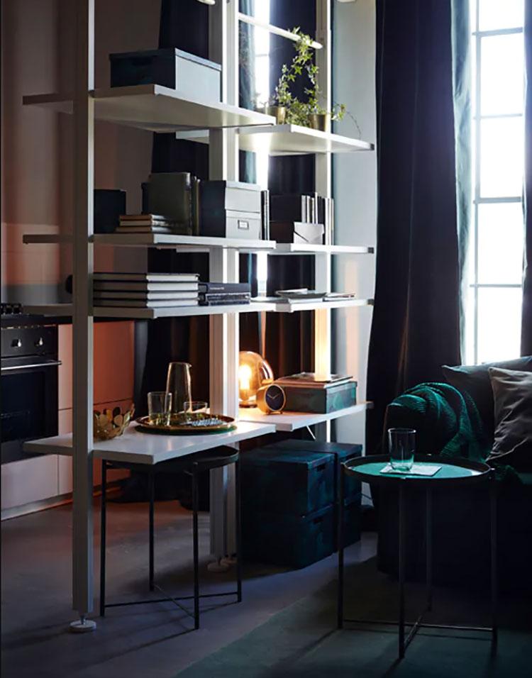 Mobili Divisori Per Soggiorno Ikea.Pareti Divisorie Ikea 20 Idee E Soluzioni Originali