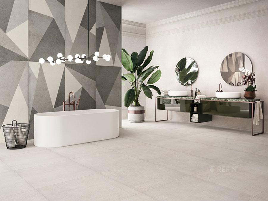 Rivestimenti per bagno moderno 40 idee dal design sorprendente for Ceramiche per bagno moderno
