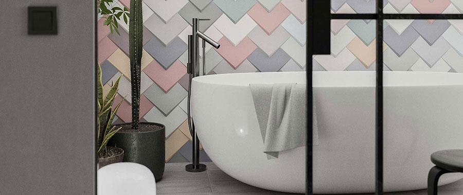 Piastrelle per bagno moderno di Wow Design n.02