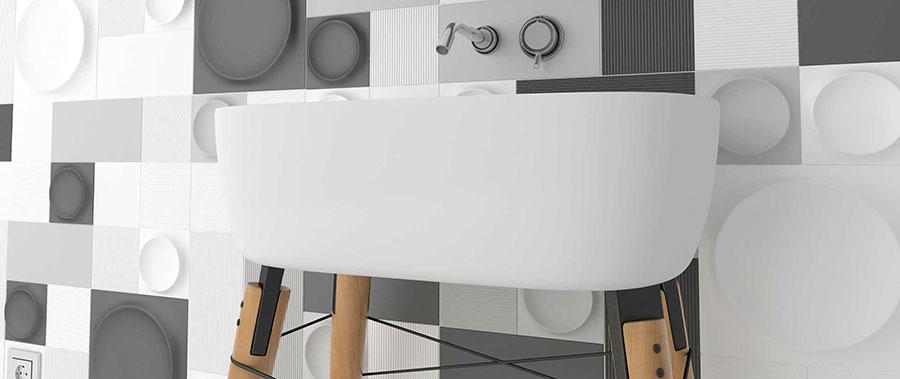 Piastrelle per bagno moderno di Wow Design n.11