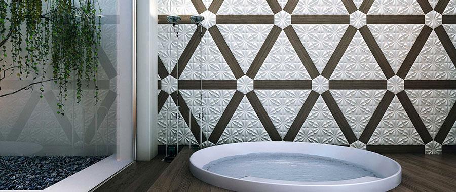Piastrelle per bagno moderno di Wow Design n.12